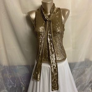 Tristan & Iseut gold sequinned top